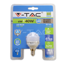LED spuldze (svece) - LED Bulb - 6W E14 Candle Warm White Blister Pack